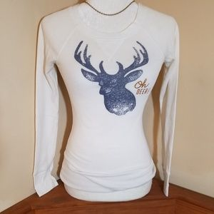 Old Navy Oh Deer Long Sleeve Tee Size XS